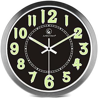 165a9bc3b44 Style pays simple RondHorlogeHall d'entrée muet lumineux horloge murale  salon horloge minimaliste haut de