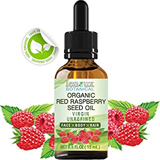 RED RASPBERRY SEED OIL ORGANIC. 100% PURE VIRGIN UNREFINED COLD PRESSED For Skin, Hair, Lip and Nail Care (0.5 Fl.oz. - 15...