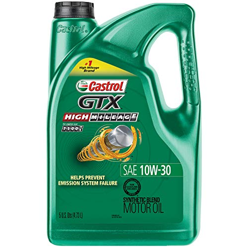 Castrol 03110 GTX High Mileage 10W-30 Motor Oil - 5 Quart