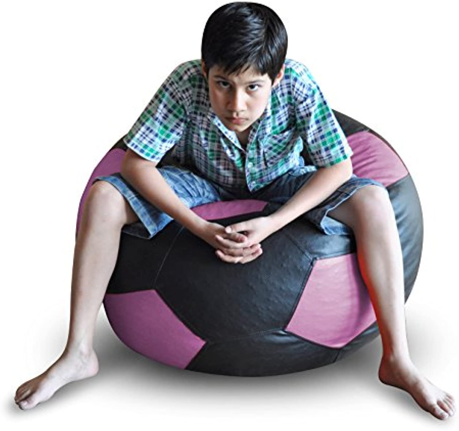 Style Homez Football Bean Bag XXL Size Black-Purple Cover Only