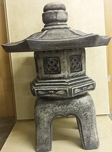 Lanterna giapponese Rankai Yukimi in pietra, resistente al gelo, realizzata a mano
