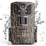 WiMiUS Fotocamera da Caccia, 16MP 1080P Fototrappola con 940nm di 32pcs Luce Invisibile, Macchine Fotografiche da Caccia con 0.5s Trigger Speed Fino a 20m, IP66 Impermeabile Telecamera