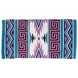 Tough-1 Mayan Navajo Wool Saddle Blanket Pink