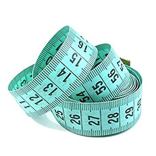 Weilifang 150 cm   60  Cuerpo Regla de medición de Costura a Medida de la Cinta métrica Suave Plana(Color Aleatorio)