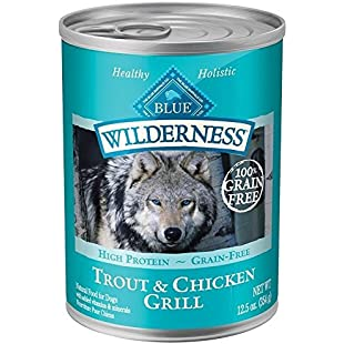 Blue Buffalo Wilderness Grain Free High Protein Trout & Chicken Grill Canned Dog Food by Blue Buffalo:Dailyvideo