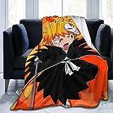 Madarstore Vintage Blankets, Bleach Ichigo Kurosaki Ultra-Soft Sofa Throw, Comfortable Lightweight Bed Blankets for Home Bedroom Recliner 50X40 in
