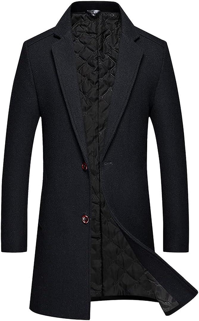 Men Coat Autumn Winter Solid Color Long Overcoat Woolen Jacket Man Wool Blends Winter Slim Coat