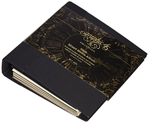 """Price comparison product image Graphic 45 Mixed Media Album,  Black,  8 by 8"""""""