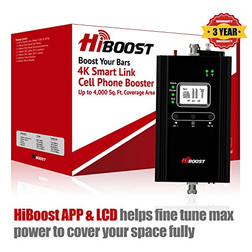 HiBoost 4K Smart Link - Cell Phone Signal Booster - Improves Reception on Phones, Tablets and...