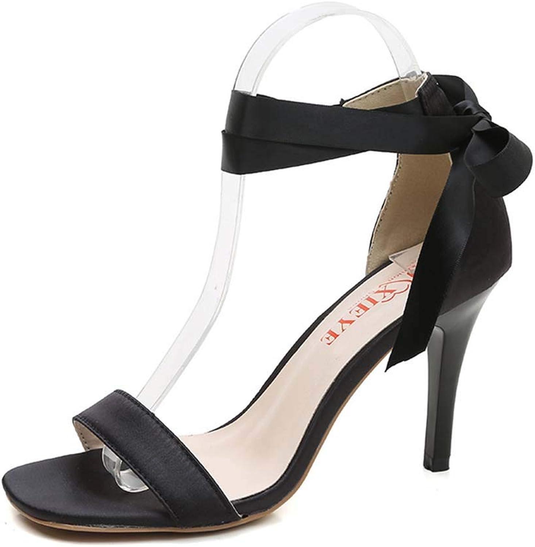 Women's high Heel Sandals Open Toe Bag with Stiletto Sandals Strap Fashion Ladies Sandals Summer