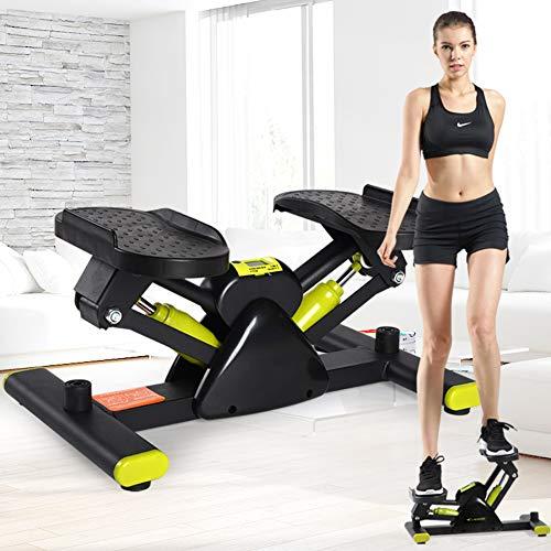 TopJiä V-Form Mini Stepper,up-down-Stepper Fitnessgerät,zuhause Fitness Kardio Trainingsgerät,mit Trainingsbändern Swing Stepper