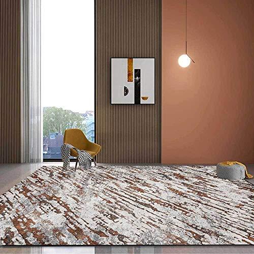 Teppich Modern Designer Teppiche Abstrakter Grauer Zong mit Gelb Schlafzimmer Zimmer Teppich Sofa Tisch Kind Krabbeln Matte 200×300CM (6ft6 x9ft10)