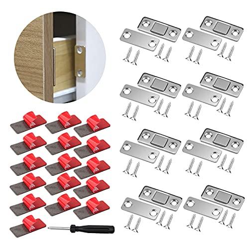 Chiusura Porta Ultra Sottile,Mobili Chiusura Magnete,per Cassetti Adesivo Chiudiporta Calamita da Armadio per Ante Cucina Porta Magnete Mobili Magneti per Chiusure