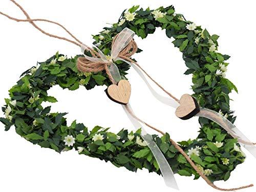 ZauberDeko Herz Anna Kranz Vintage Türschmuck Hochzeit Frühling Deko Fensterschmuck Dekoherz