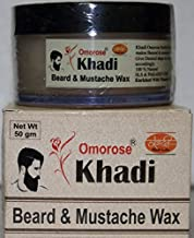 Khadi Omorose Beard & Mooch WAX (Balm) 50 gm (With Cedarwood Oil ,Vitamin E, Jojoba oil) {No Paraffin Wax}
