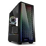 Sharkoon RGB LIT 200 - Caja de Ordenador, PC Gaming, Semitorre ATX, Negro