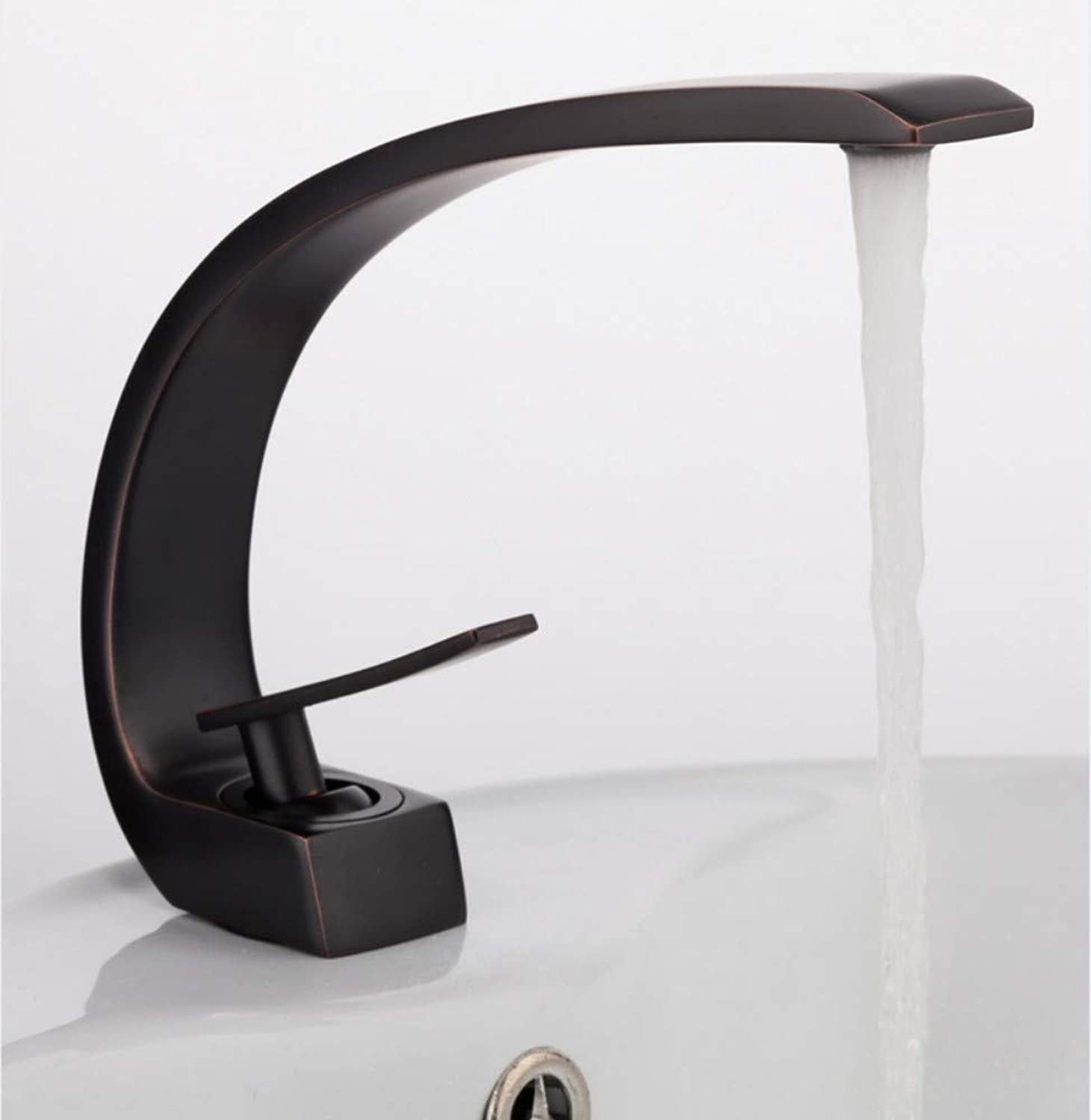 Basin Faucet New Innovative Black Brass Bathroom Faucet Cold and Hot Water Mixer Taps Antique Bath Sink Taps Mixer