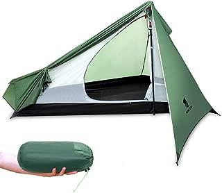 Tienda Ultraligera y Impermeable Tienda de Mochilero Ligero para 1 Persona Ideal para Acampar,Escalada, Senderismo, Viaje y Camping