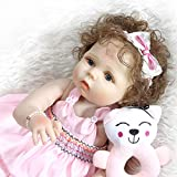 Cenphua Realistic Reborn Babypuppen 22 Zoll 56cm Blue Eyes Echt aussehende lebendige Baby Vollvinyl...