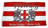 Fahne Flagge Freiburg Meine Heimat Meine Liebe 90 x 150 cm