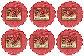 Yankee Candle Sparkling Cinnamon 0.8oz Tarts Wax Melt - LOT of 6