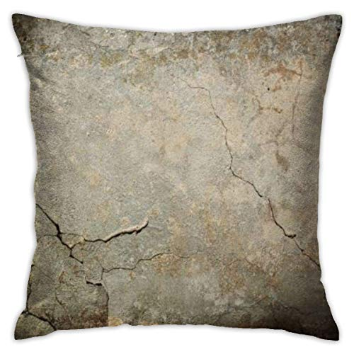 pingshang Old Wall Texture Grunge Black Pillowcase, Double-Sided Printing, Hidden Zip Pillowcase, 18inch18inch Beautiful Printed.