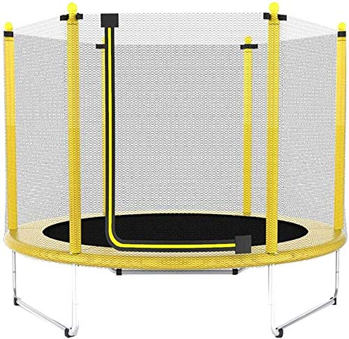 """YAOJIA Indoor trampoline Trampoline Round With Safety Enclosure  Indoor/Outdoor Fitness Trampolines For Kids   60""""Safety Weight 250kg"""