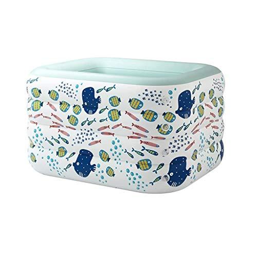 NXYJD Natación del bebé del baño, for niños Piscina Inflable Espesado natación del bebé balde de casa Plegable Cubo de baño