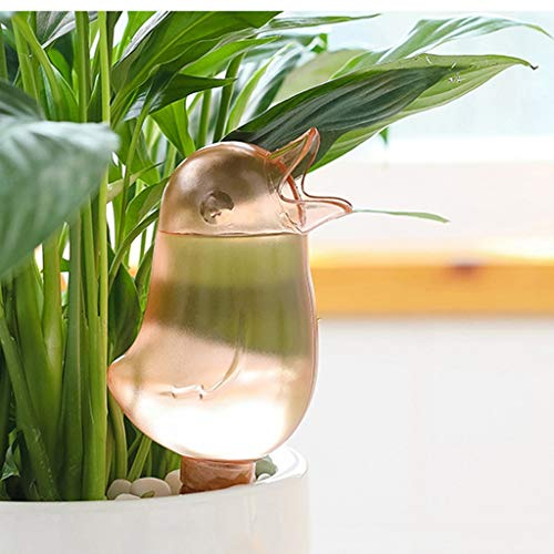 Plant Watering Bird Shape Durable Transparent Automatic Watering Spikes Plant Watering Devices Plant Drip Irrigation for Keeping Indoor Outdoor Home Garden Potted Plants Flowers Trees Self Watering