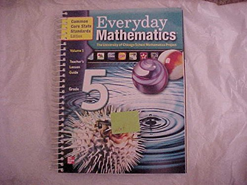 Everyday Math Grade 5 Vol 1 Teachers Lesson Guide Common Core State Standards