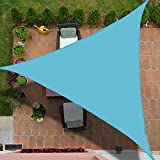SpinosaurusOutdoor Waterproof Sun Shade Sail Canopy Triangle UV Block for Patio and Garden,Backyard Lawn (10'X10'X10', Lake Blue)