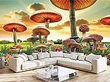 Papel Pintado Pared 3D Bosque De Setas De Fantasía Abstracta Mural Pared Papel Tapiz Dormitorio Sala De Estar Fotomural Decoración 400x280cm
