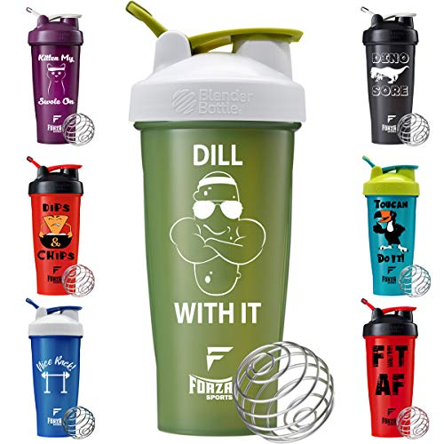 Forza Sports Blender Bottle x 28 oz. Classic Shaker - Dill with It