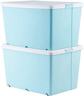 LCSHAN Boîte de Rangement en Plastique de boîte de Rangement de 2 Paquets de boîte de Rangement de Panier de Rangement ave...