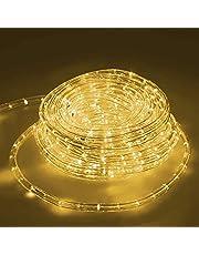 ECD Germany LED touw licht 20 meter - warm wit 3000K - 36 LEDs/m - binnen/buiten - IP44 - licht ketting licht lint licht decoratie slangstrip strip