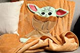 AWULO Mandalorian Star Wars Baby Yoda Plush Blanket for Kids and Adults Super Soft Oversized Warm Throw Blanket Hypoallergenic and Washable Made Up of Flannel Perfect for Couch, Bedroom (60X43 in)