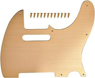 SUPVOX 8 agujeros de aleación de aluminio Tele Guitarra Pickguard Scratch Plate se adapta a US mexicano estándar dorado