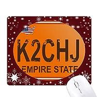 車の免許は米国の番号のパターン オフィス用雪ゴムマウスパッド