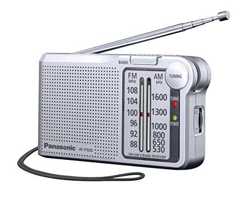 Panasonic RF-P150DEG-S - Radio portátil (150mW, FM/Am, Radio de Bolsillo, LED, Radio Analógica) Color Plata