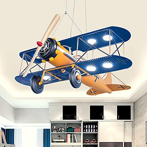 GGMWDSN Luz Techo Dormitorios - Luces de Techo Led para Dormitorio de NiñOs, IluminacióN Creativa con Forma de AvióN Candelabro DoméStico Silencioso Regulable, Color de 3 Luces,A