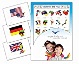 Continents, Countries and Flags Flashcards - Länder und Flaggen - Bildkarten in Englisch für den Sprachunterricht -