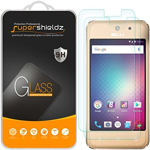2 Pack Supershieldz for BLU Vivo 5 Mini Tempered Glass Screen Protector Anti Scratch Bubble product image