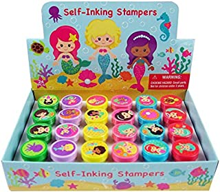 TINYMILLS 24 Pcs Mermaid Stampers for Kids
