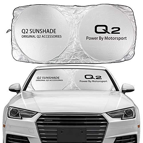 JHSHOP Parasol para Coche Windshield del Coche Cubierta de la Sombra del Sol Compatible con Audi A3 8P 8V A4 B8 B6 A6 C6 C5 A5 Q2 Q3 Q5 Q7 Q8 TTS TTS TT TT Auto Accesorios REFECTORIO DE UV Sombrilla