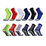 VWU Mens Womens Sports Socks Athletic Socks for Running Cycling Basketball Hiking More (6pcs Cushion and Grips, Shoe Size: 6-11)