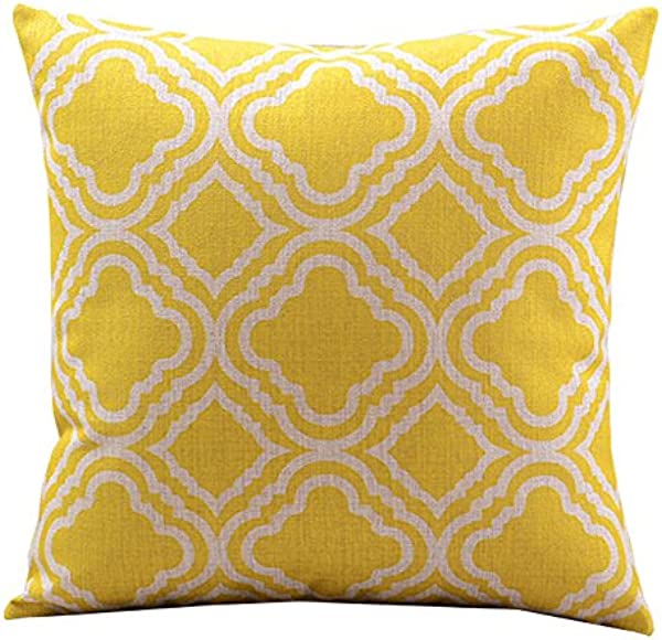 4Rissa Cabana Yellow Geometric Ethnic Boho Bohemian Accent Patio Decor Decorative Throw Pillow