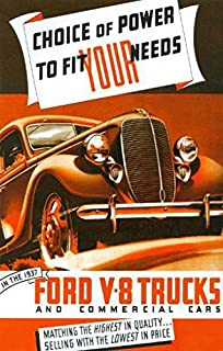 1937 FORD V8 TRUCK & PICKUP BEAUTIFUL DEALERS SALES BROCHURE - ADVERTISEMENT INCLUDES: panels, stake bodies, platform trucks, dump trucks, panel delivery, sedan delivery and station wagon 37