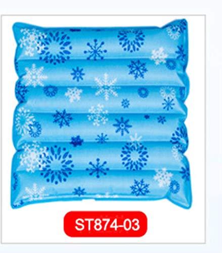 Zomer Koeling Zitkussen Air Water Ijs Mat voor Office Stoel Auto Koeling Down Kussen Pad Achtersteun, ST874-03,58x58cm