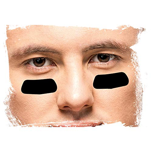 American Sports Eye Black 1 Paar - Schwarz, American Football Eyeblack Stripes