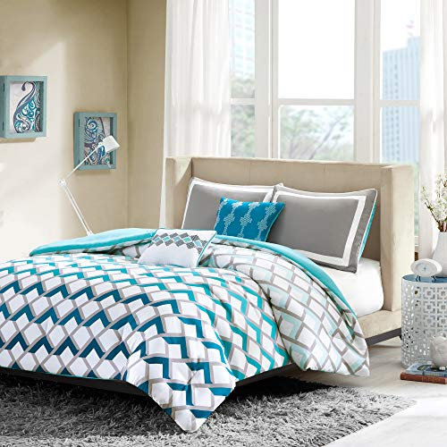 Intelligent Design Comforter Set, Full/Queen, Blue